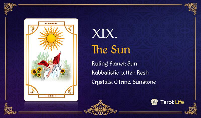 The Sun Love Tarot Card