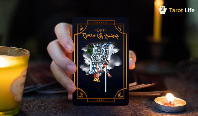 Reversed image of Queen of Swords