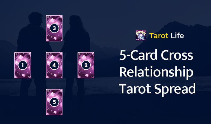 5-Card Cross Relationship Tarot Spread