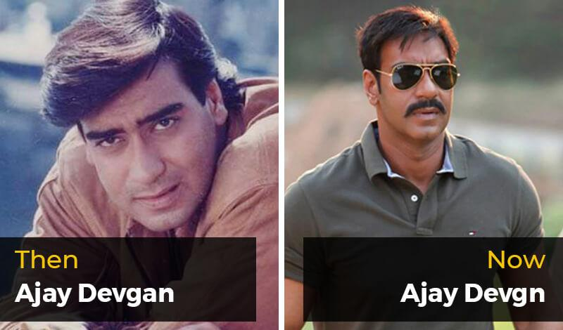 Then Ajay Devgan- Now Ajay Devgn